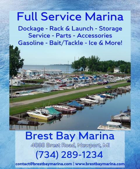 brest bay marina, wayne county, mi
