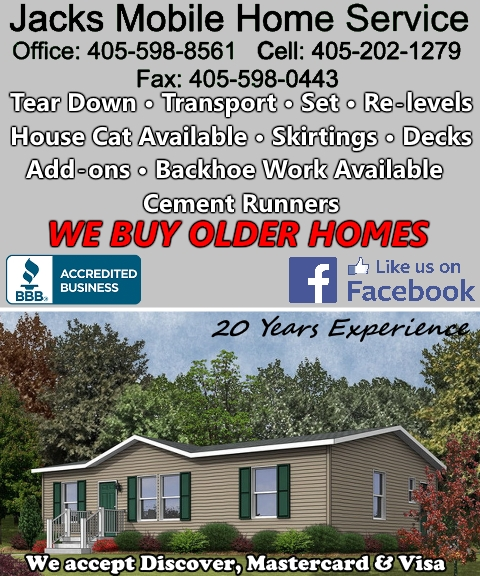 mobile home service, pottawatomie county, ok
