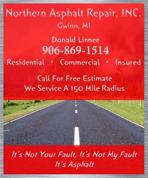 northern asphalt repair, gwinn mi