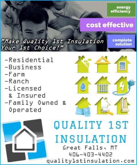 QUALITY 1ST INSULATION, cascade county mt