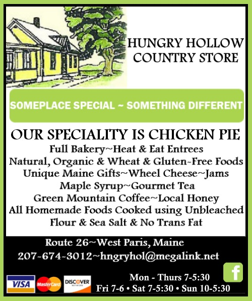hungry hollow country store, west paris me
