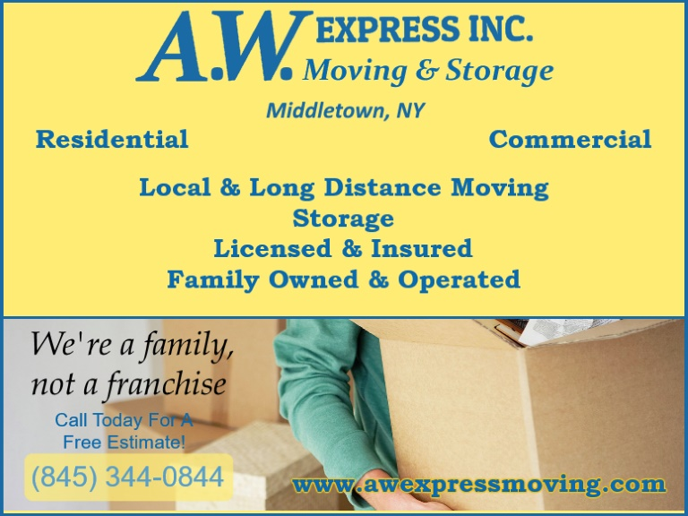 aw express middletown ny