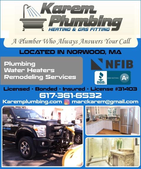 karem plumbing, norwood ma