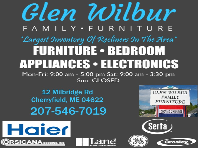 glen wilbur furniture, washington county me