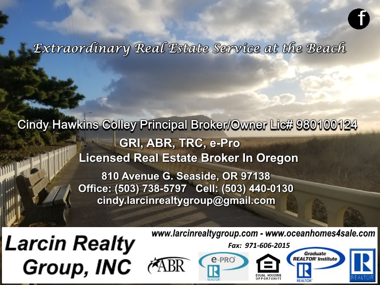 larcin realty group, clatsop county, or
