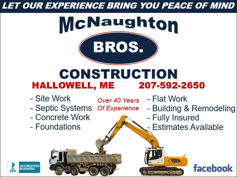 mcnaughton construction, hallowell me