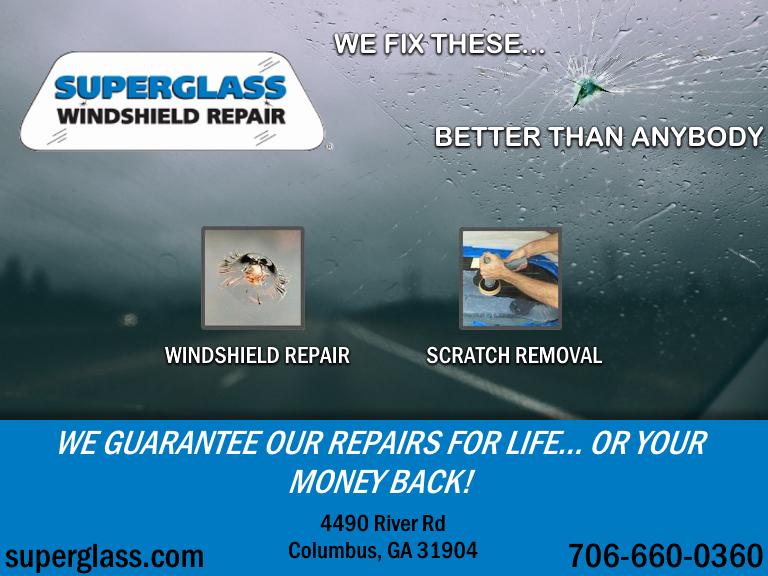superglass windshield repair, columbus ga