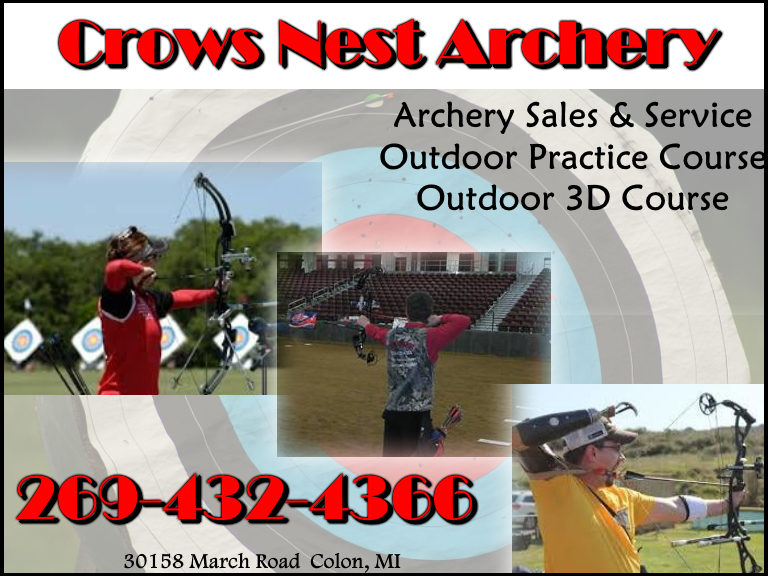 CROWS NEST ARCHERY, OLON MI