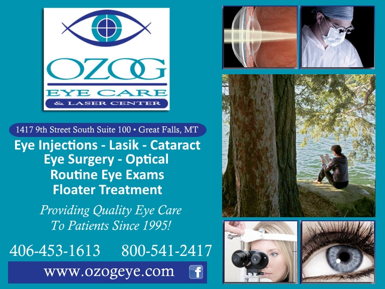 ozog eye care, great falls mt