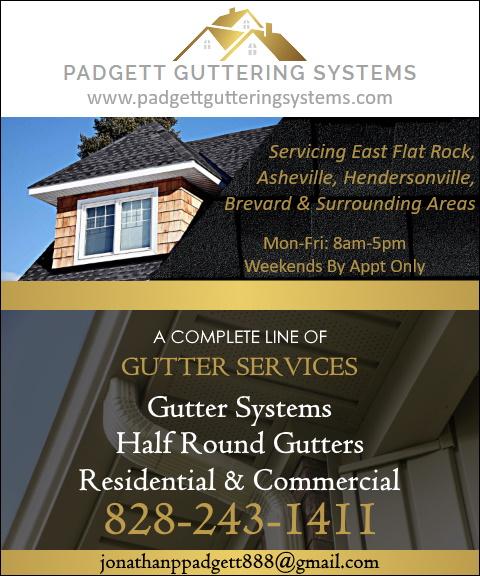 padgett guttering systems flaT rock nc