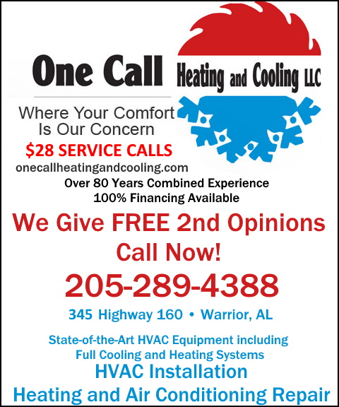 one call heating & cooling, warrior al