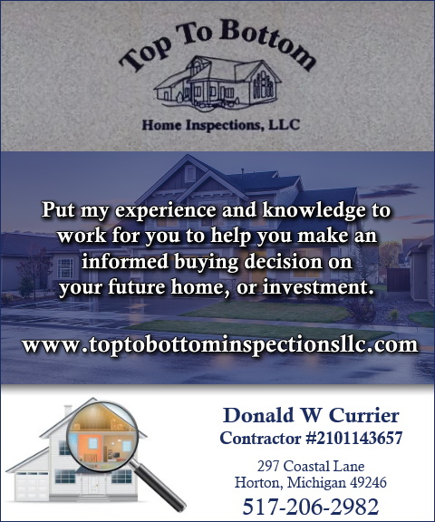 top to bottom home inspections, horton mi
