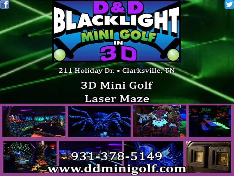 mini golf montgomery county tn