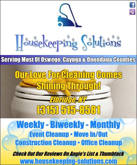 housekeeping, solutions, oswego county, ny