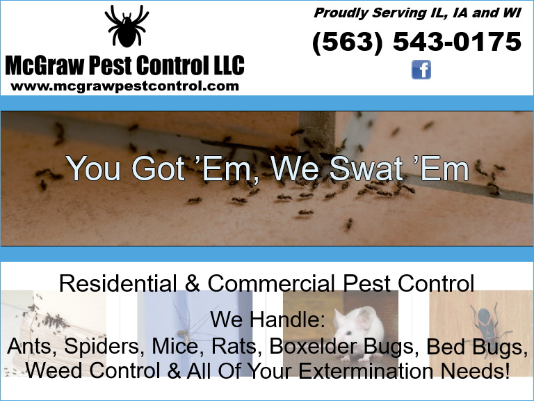 pest control, dubuque county, ia