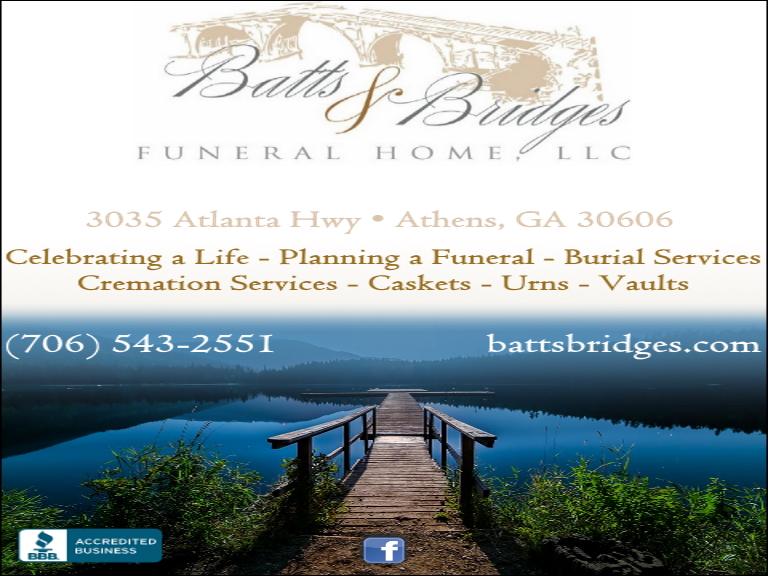 batts & Bridges funeral home, clarke county, ga