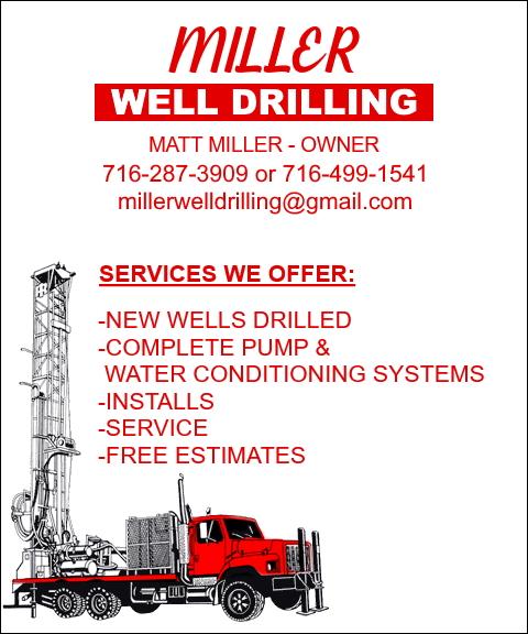 well drilling, chatauqua county, ny