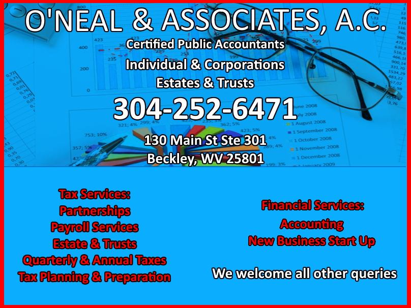 taxes, payroll,estate, raleigh county,wv