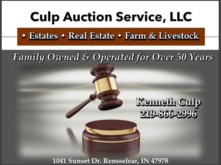 culp auction,jasper county, in
