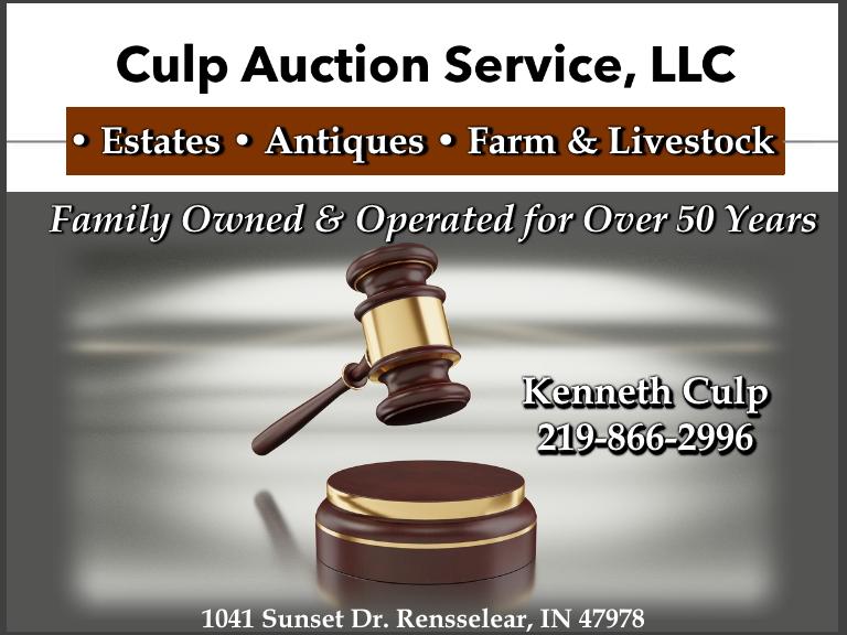 culp auctions, jasper county, in