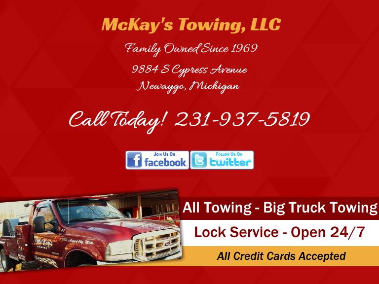 mckays towing, newaygo county, mi