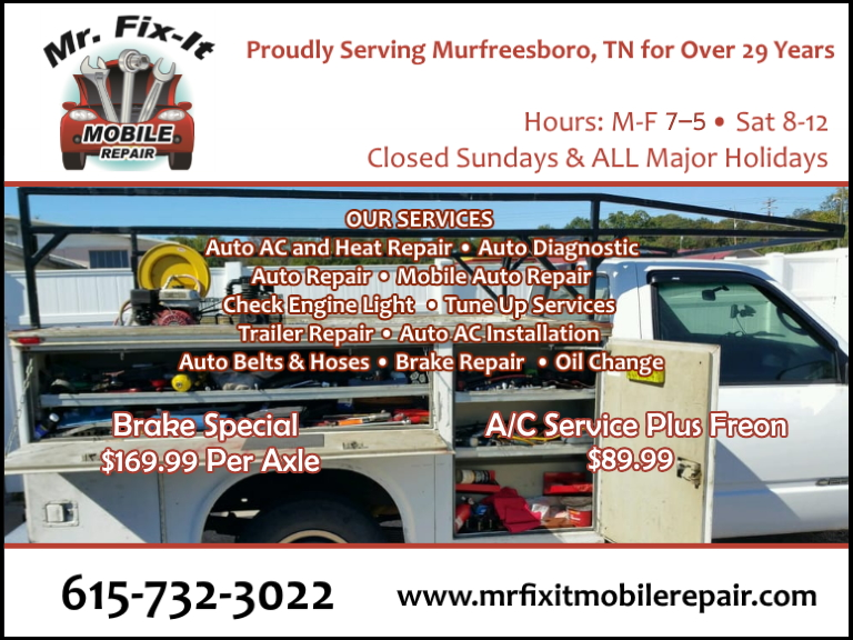 mr fix it rutherford county, tm