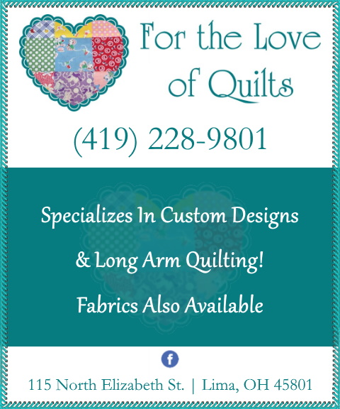 for the love of quilts, allen county oh