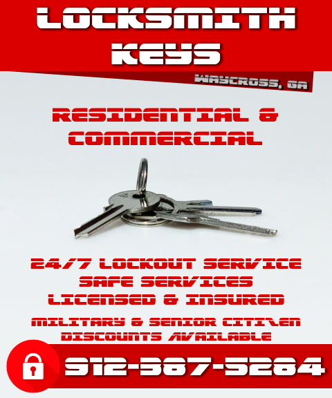 locksmith keys, ware county, ga