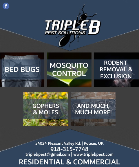 triple b pest, le flore county, ok
