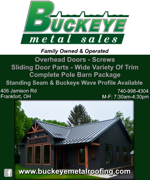 buckeye metal roofing, ross county, oh