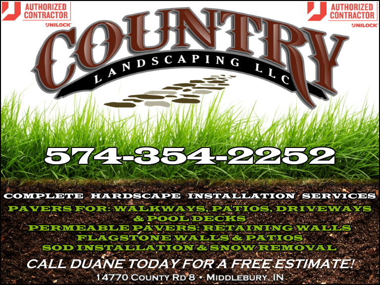 country landscaping, elkhart county, in