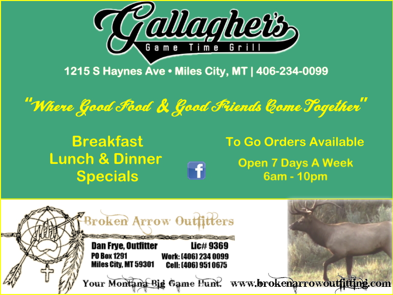 gallaghers gametime, yellowstone county, mt