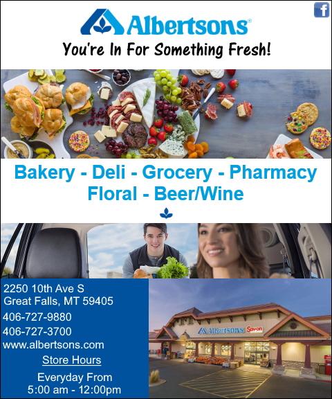 albertson food, cascade county, mt