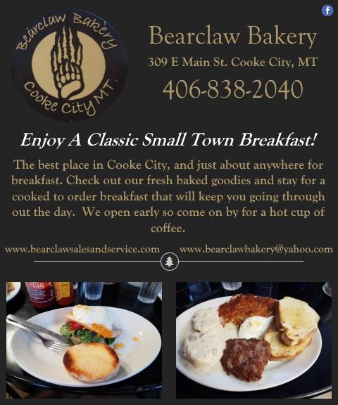 bear claw bakery, park county, mt