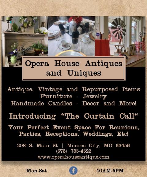 opera house antiques, monroe county, mo