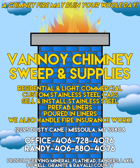 VANNOY CHIMNEY SWEEP, MISSOULA COUNTY, MT
