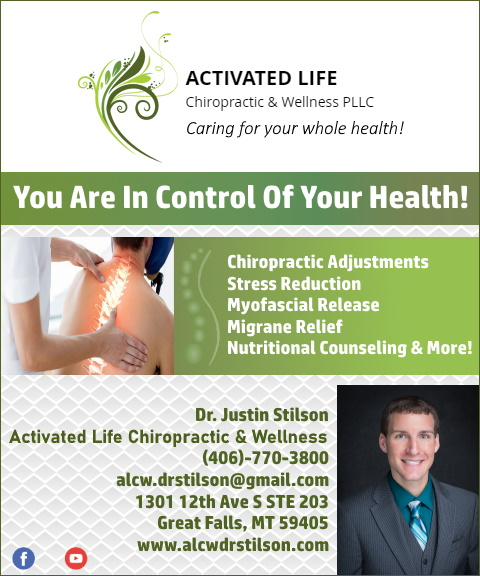 activated life chiropractic, cascade county, mt