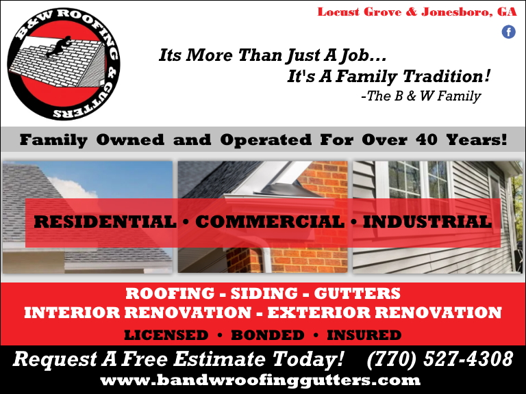 b&w roofing, clayton county, ga