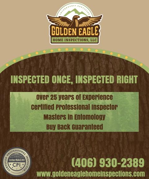 golden eagle home inspections,. park county, mt