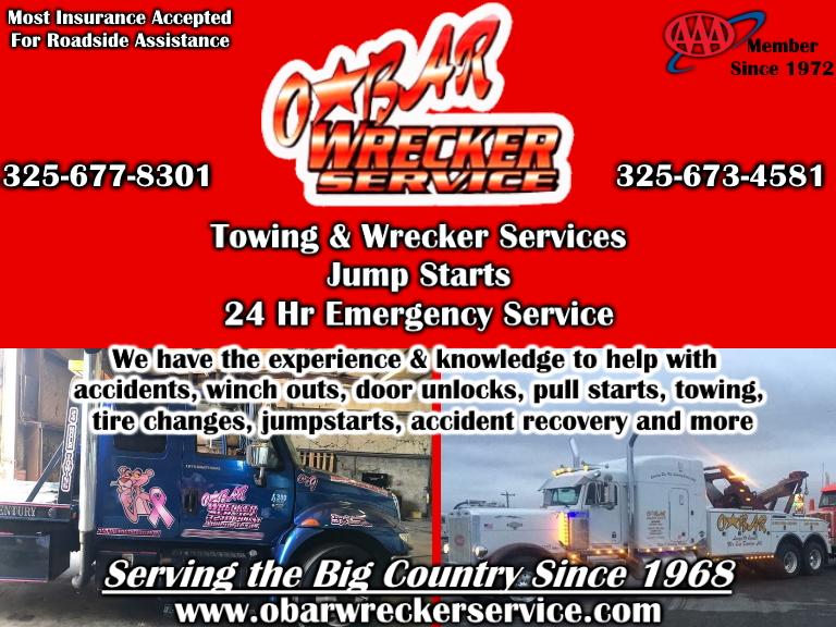 obar wrecker, taylor county, tx