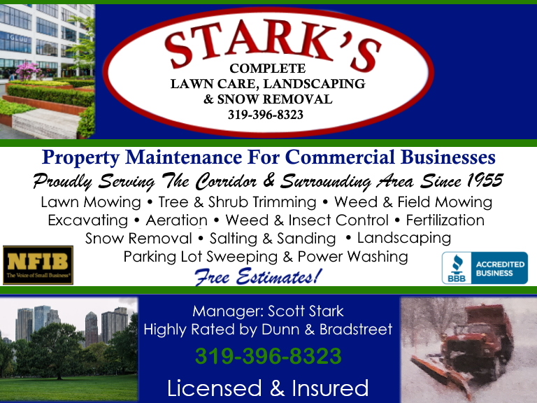 starks complete lawn care, linn county, ia
