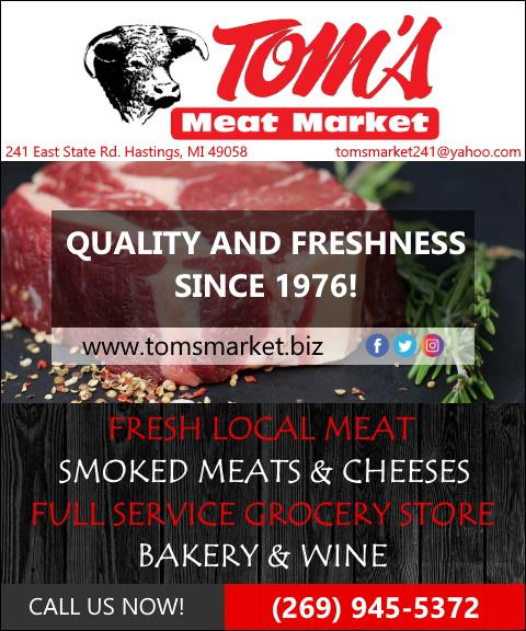 toms meat market, barry county, mi