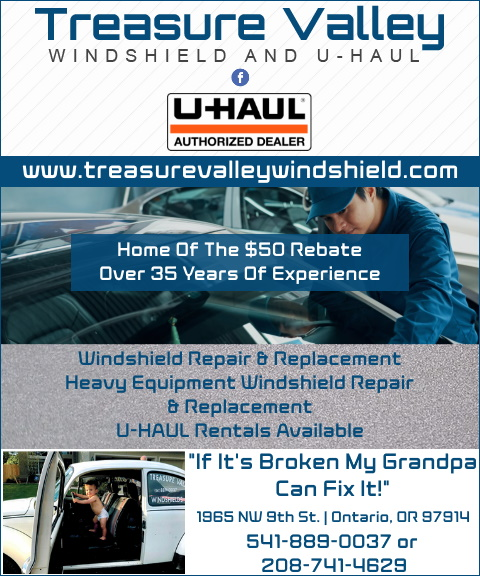 treasure valley windshield, malheur county, or