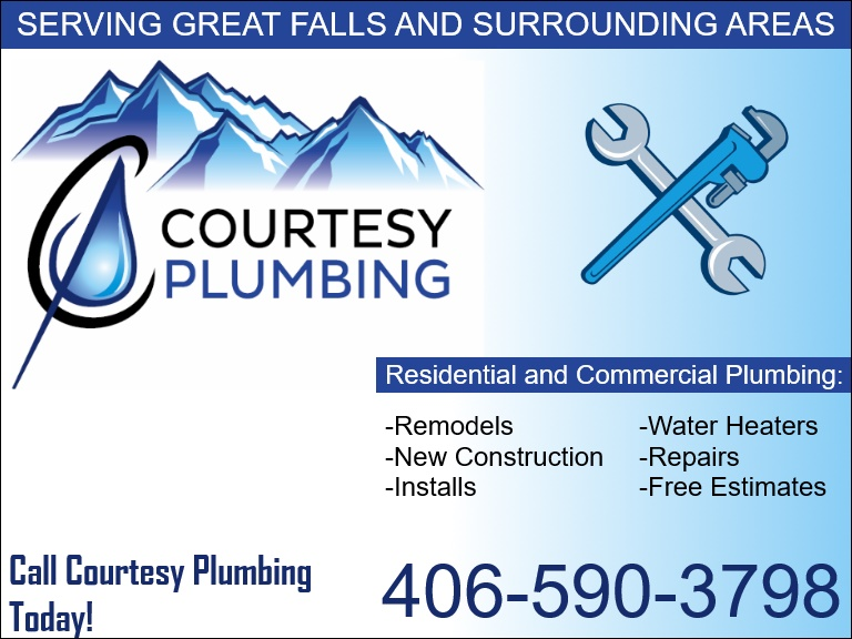 courtesy plumbing, cascade county, mt