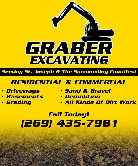 graber excavating, st joseph county, MI