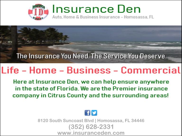 insurance den, citrus county, fl