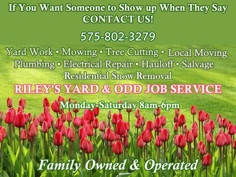 rileys yard & odd job service, lincoln county, nm