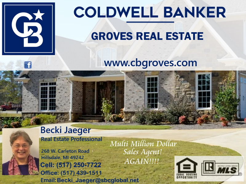 coldwell banker groves real estate, hillsdale county, mi