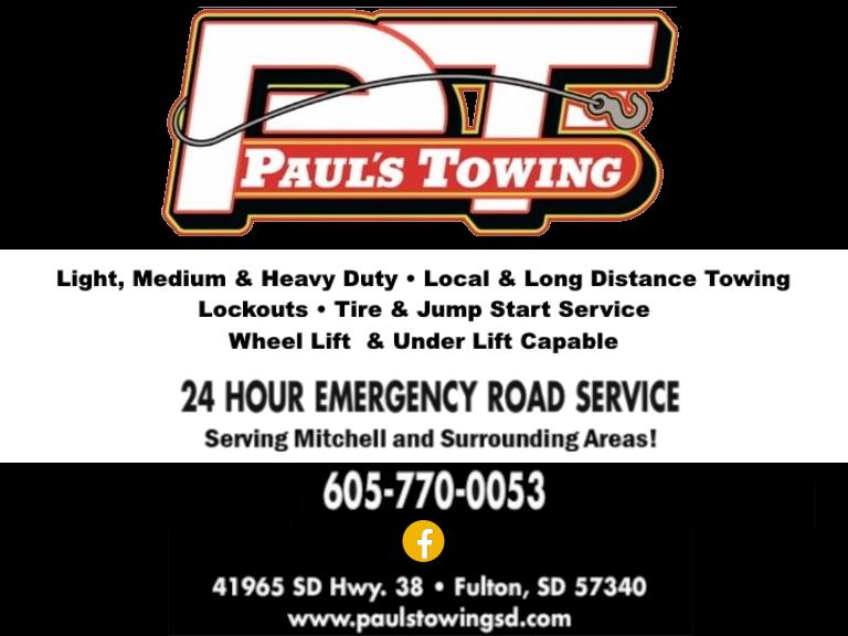Pauls Towing, davison county, sd