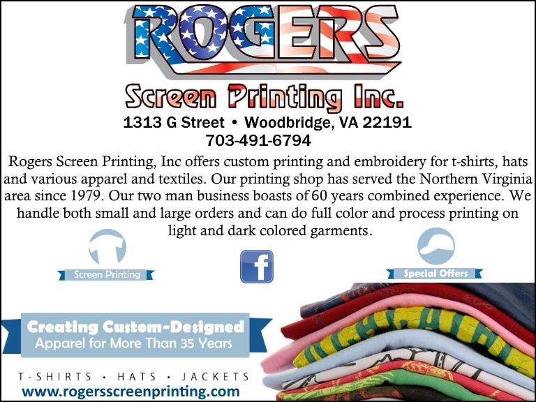 rogers screen printing, prince williams county, va